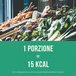 Giving Greens solo 15 kcal per porzione